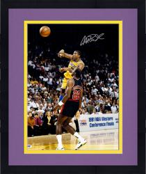 Framed Magic Johnson Los Angeles Lakers Autographed 16'' x 20'' vs. Clyde Drexler Photograph