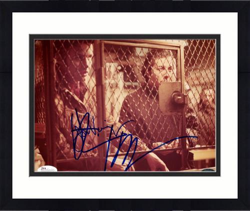 "Framed Jon Voight & Dustin Hoffman Autographed 8"" x 10"" Midnight Cowboy Both Behind Cage Photograph - JSA"
