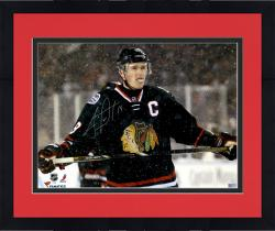 Framed Jonathan Toews Chicago Blackhawks Autographed 16'' x 20'' Stadium Series Photograph