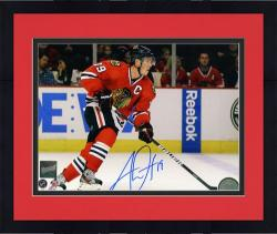Framed Jonathan Toews Chicago Blackhawks Autographed 8'' x 10'' Horizontal Photograph
