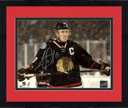 Framed Jonathan Toews Chicago Blackhawks Autographed 8'' x 10'' Stadium Series Photograph