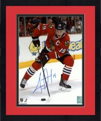 "Framed Jonathan Toews Chicago Blackhawks Autographed 8"" x 10"" Vertical Red Uniform Photograph"