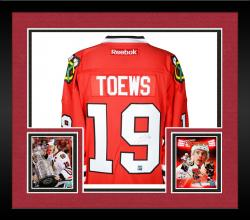 Framed Jonathan Toews Chicago Blackhawks Autographed Reebok Replica Jersey