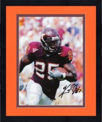 Framed Kevin Jones Virginia Tech Hokies Autographed 8'' x 10'' Close Up Solo Photograph