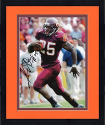 Framed Kevin Jones Virginia Tech Hokies Autographed 8'' x 10'' Red Pants Photograph