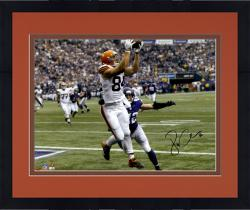 "Framed Jordan Cameron Cleveland Browns Autographed 16"" x 20"" Horizontal White Catch Photograph"