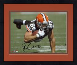 "Framed Jordan Cameron Cleveland Browns Autographed 8"" x 10"" Horizontal Dive Photograph"