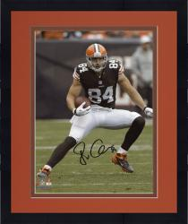 "Framed Jordan Cameron Cleveland Browns Autographed 8"" x 10"" Vertical Brown Uniform Photograph"