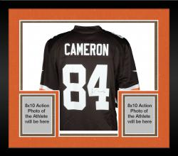 Framed Jordan Cameron Cleveland Browns Autographed Nike Replica Brown Jersey