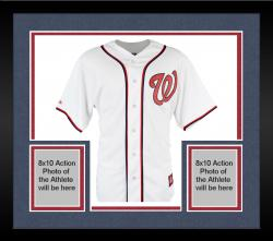 Framed Jordan Zimmermann Washington Nationals Autographed Majestic Home Jersey