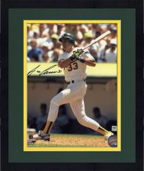 "Framed Jose Canseco Oakland Athletics Autographed 8"" x 10"" Swinging Photograph"