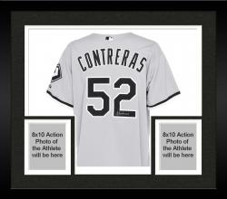 Framed Jose Contreras Chicago White Sox Autographed Authentic Gray Jersey