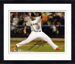 "Framed Jose Fernandez Miami Marlins Autographed 8"" x 10"" Horizontal White Uniform Photograph"