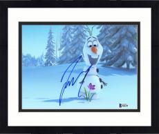 """Framed Josh Gad Autographed 8"""" x 10"""" Frozen Olaf Flower Photograph - Beckett COA"""