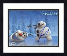 """Framed Josh Gad Autographed 8"""" x 10"""" Frozen Olaf Head Roll Photograph - Beckett COA"""