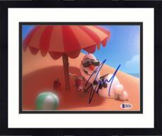 "Framed Josh Gad Autographed 8"" x 10"" Frozen Olaf on Beach Photograph - Beckett COA"