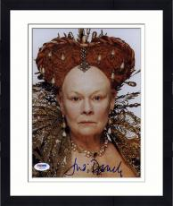 """Framed Judi Dench Autographed 8""""x 10"""" Shakespear Red Crown Photograph - PSA/DNA COA"""