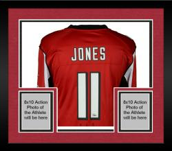 Framed Julio Jones Atlanta Falcons Autographed Nike Limited Red Jersey