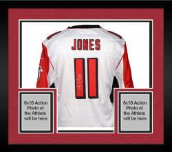 Framed Julio Jones Atlanta Falcons Autographed Nike Limited White Jersey