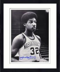 "Framed Julius Erving Massachusetts Minutemen 16"" x 20"" Autographed Black and White Photograph"