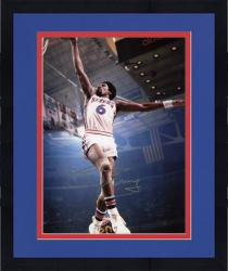 "Framed Julius Erving Philadelphia 76ers Dunking Autographed 8"" x 10"" Photo"