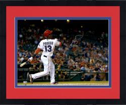 "Framed Jurickson Profar Texas Rangers Autographed 16"" x 20"" Hitting Photograph"