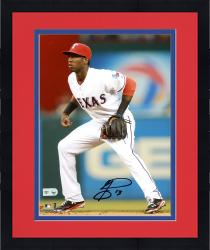 "Framed Jurickson Profar Texas Rangers Autographed 8"" x 10"" Fielding Photograph"