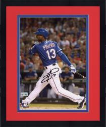 "Framed Jurickson Profar Texas Rangers Autographed 8"" x 10"" Hitting Photograph"
