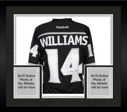 Framed Justin Williams Los Angeles Kings 2014 Stanley Cup Champions Autographed Black Reebok Premier Jersey with SC Champs 2012/2014 Inscription