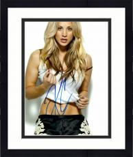 "Framed Kaley Cuoco Autographed 11"" x 14"" Posing in Tank Top Photograph - PSA/DNA COA"