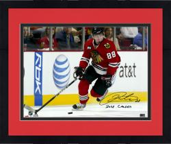 "Framed Patrick Kane Chicago Blackhawks Autographed 16"" x 20"" Photograph with 2008 Calder Inscription"