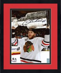 "Framed Patrick Kane Chicago Blackhawks Autographed 8"" x 10"" Raising Cup Photograph"