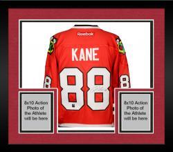 Framed Patrick Kane Autographed Blackhawks Jersey