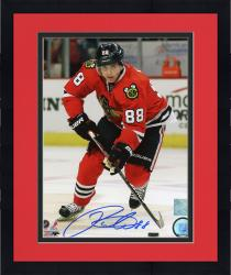 "Framed Patrick Kane Chicago Blackhawks Autographed 8"" x 10"" Red Uniform Skating Photograph"