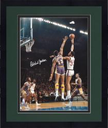 Framed Kareem Abdul Jabbar Milwaukee Bucks Autographed 16'' x 20'' vs Los Angeles Lakers Photograph