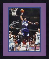 "Framed Karl Malone Utah Jazz Autographed 16"" x 20"" Dunking vs Orlando Magic Photograph"
