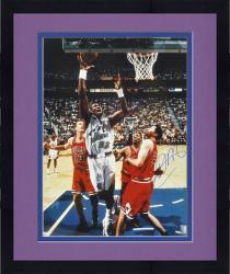 "Framed Karl Malone Utah Jazz Autographed 16"" x 20"" Layup Photograph"
