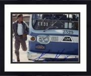 "Framed Keanu Reeves Autographed 8""x 10"" Speed Running Next to Bus Photograph - Beckett COA"