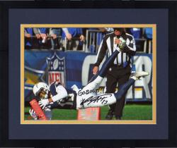 "Framed Keenan Allen San Diego Chargers Autographed 08"" x 10"" Vertical Photograph with Go Bolts Inscription"