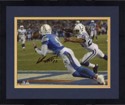 "Framed Keenan Allen San Diego Chargers Autographed 8"" x 10"" Horizontal Dive TD Photograph"