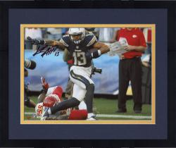 "Framed Keenan Allen San Diego Chargers Autographed 8"" x 10"" Stiff Arm Photograph"