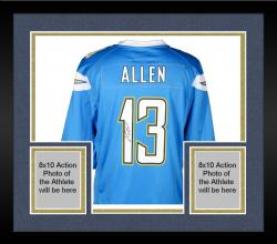 Framed Keenan Allen San Diego Chargers Autographed Nike Game Powder Blue Jersey