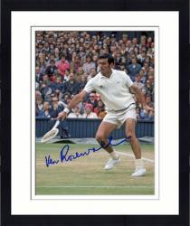 Framed Ken Rosewall Signed Photo - COLOR)(1 HANDED BACKHAND 8x10 Mounted Memories