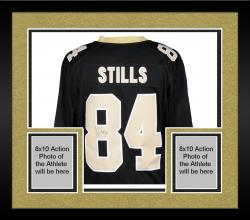 Framed Kenny Stills New Orleans Saints Autographed Nike Limited Black Jersey