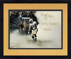 """Framed Kenny Vaccaro New Orleans Saints Autographed 16"""" x 20"""" Smoke Photograph with NFL Debut 9/8/13 Inscription"""