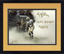"""Framed Kenny Vaccaro New Orleans Saints Autographed 8"""" x 10"""" Smoke Photograph with NFL Debut 9/8/13 Inscription"""