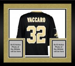 Framed Kenny Vaccaro New Orleans Saints Autographed Game Black Jersey