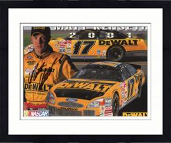 Framed Matt Kenseth Autographed 8'' x 10'' Dewalt Rookie Of The Year Photograph