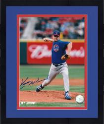 "Framed Kerry Wood Chicago Cubs Autographed 8"" x 10"" Vertical Pitching Photograph"