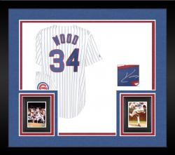 Framed Kerry Wood Signed Jersey - Replica